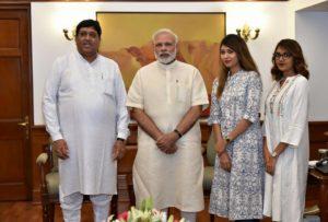 Dileep Sanghani with pm narendra modi