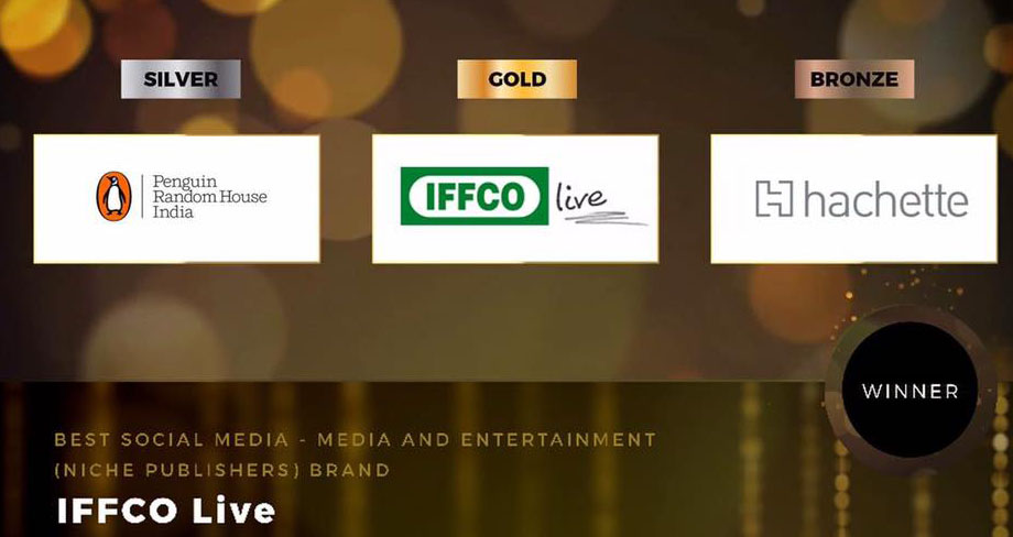 Media Award: Iffcolive.com beats Penguin; wins Gold