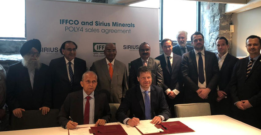 IFFCO signs Sirius Minerals for supply of POLY4